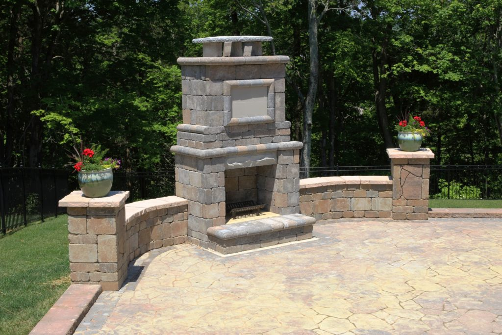 Hardscapes Outdoor Fireplace Installation