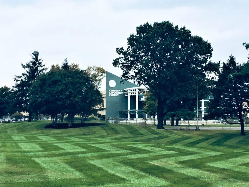 Kentucky Exposition Center Creative Striping