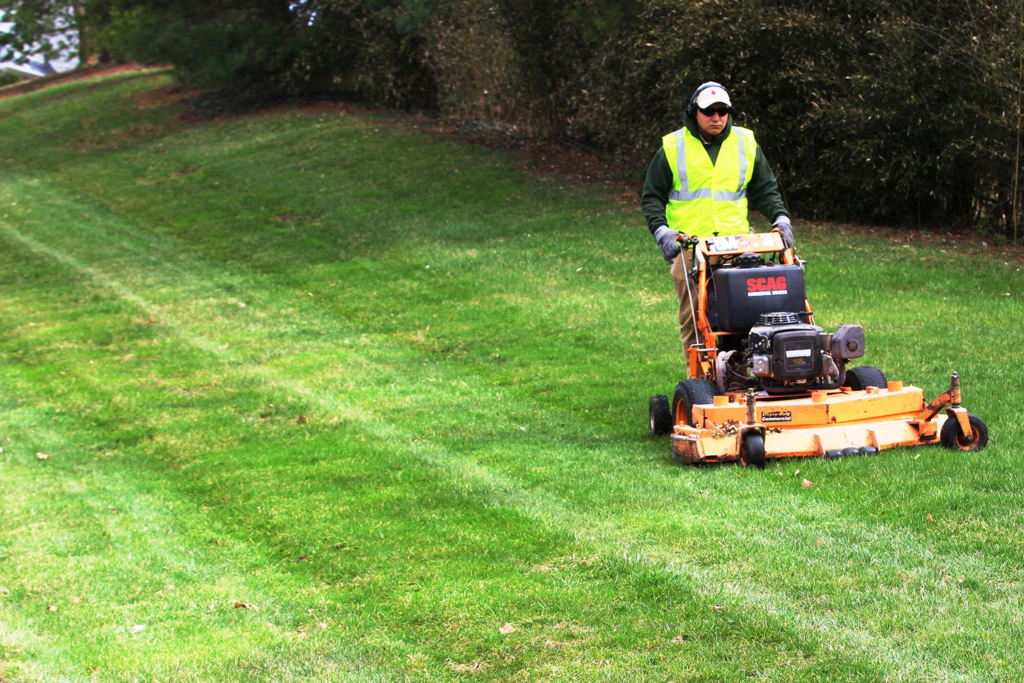 Mowing GreenScapes crew